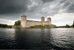 Olavinlinna castle Stock Photo