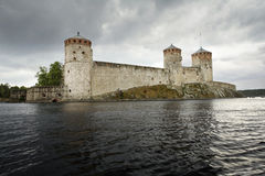 Olavinlinna castle Stock Photography