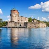 Olavinlinna castle in Finland Stock Photo