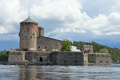 Olavinlinna Castle. Olavinlinna is a 15th-century three-tower castle located in Savonlinna, Finland Royalty Free Stock Photography