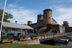 Olavinlinna Festung Stockfoto