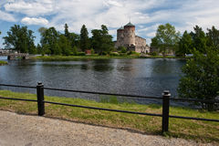 Olavinlinna fortress Stock Photos