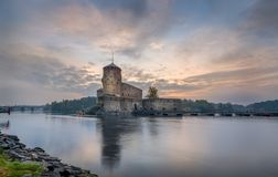 Olavinlinna fortress Stock Photo