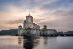 Olavinlinna fortress Stock Image