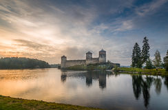 Olavinlinna fortress Royalty Free Stock Images