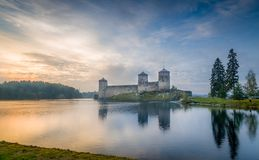 Olavinlinna fortress Royalty Free Stock Photos