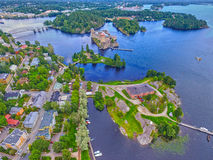 Olavinlinna Olofsborg Castle in Savonlinna, Finland Royalty Free Stock Photo