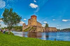 Olavinlinna Olofsborg Castle in Savonlinna, Finland Royalty Free Stock Photography