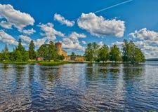 Olavinlinna Olofsborg castle in Savonlinna Stock Photo