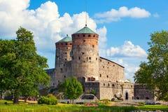 Olavinlinna slott Royaltyfri Fotografi