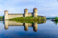 Olavinlinna slott, i Savonlinna Fotografering för Bildbyråer