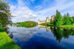 Olavinlinna slott, i Savonlinna Arkivbilder