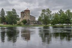 Olavinlinna slott, Savonlinna, Finland Arkivbilder