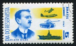 Olavo Bilac строгает танк и авианосец Стоковое Изображение