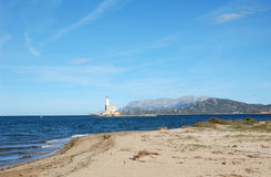 Olbia lighthouse Stock Images