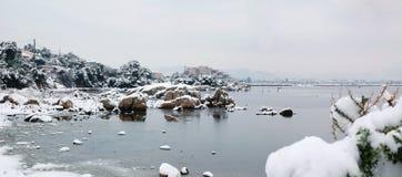 olbiasardinia vinter Fotografering för Bildbyråer