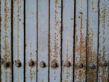 Old metal door closeup. Old metal door closeup royalty free stock photography