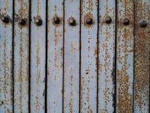 Old metal door closeup. Old metal door closeup royalty free stock image