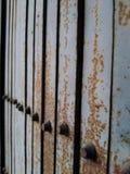 Old metal door closeup. Old metal door closeup stock photo