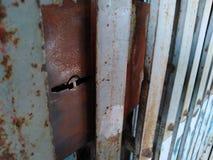 Old metal door closeup. Old metal door closeup stock photos