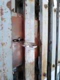 Old metal door closeup. Old metal door closeup royalty free stock photos
