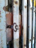 Old metal door closeup. Old metal door closeup stock images