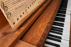 Old 1914 Piano. My old 1914 player piano Royalty Free Stock Photo