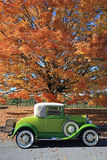 Old 1930 car. Vintage car in the fall Stock Photography