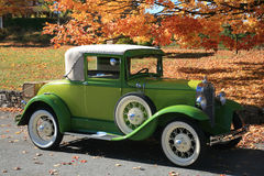 Old 1930 car. Vintage car in the fall Stock Photo