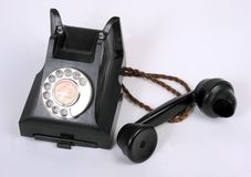 An old bakelite 1940-1950 telephone Royalty Free Stock Photography
