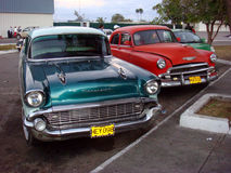 Old 1950s Vintage Cars, Havana, Cuba Stock Images