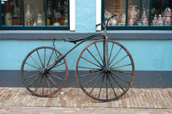 Old 19th century bicycle Royalty Free Stock Photo