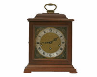 Old 30day wooden frame clock Royalty Free Stock Image