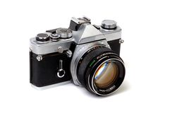 Old 35mm Camera 2 Royalty Free Stock Photo