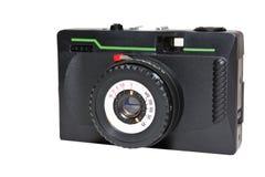 Old 35mm camera. Old 35mm retro film camera royalty free stock photos