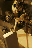 An old 35mm film projector. This is a detail of an old film projector Royalty Free Stock Image