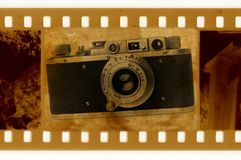 Old 35mm frame photo Royalty Free Stock Photography