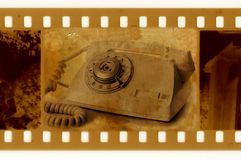 Old 35mm frame photo. Oldies 35mm frame photo with vintage phone stock images