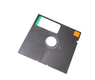 Old 5.25 floppy disk with blank label Royalty Free Stock Photos