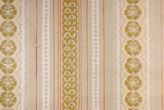 Old 70s wallpaper Stock Image