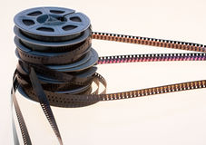 Old 8mm film reels Stock Images