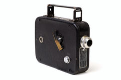 Old 8mm Movie Camera 1. Close-Up of an old 8mm movie camera from the 1930's on a white background Stock Images