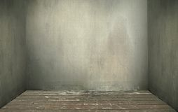 Old. Grunge interior, wooden floor royalty free stock photography