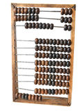 Old abacus. On a white background Stock Photos