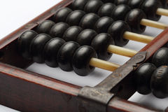 Old abacus ancient classic close up isolated on white background Royalty Free Stock Photos