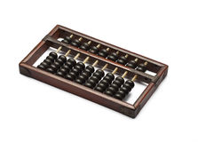Old abacus ancient classic close up  on white background Royalty Free Stock Photo