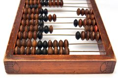 Old abacus, close up Stock Images