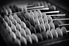 Old abacus, close up Royalty Free Stock Images