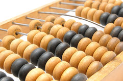 Old abacus closeup Royalty Free Stock Photo