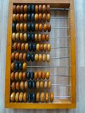 The old abacus, with the help of which produced all mathematical calculations in the middle of the last century.  royalty free stock photography
